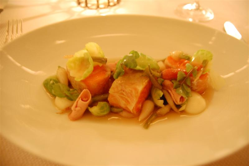 ocean trout The Restaurant at Meadowood   12/26/09