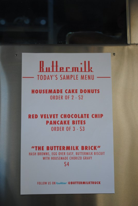 buttermilk menu LA Street Food Fest   2/13/10
